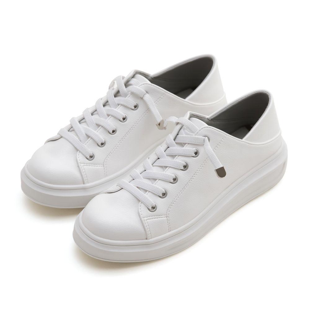 NeuTral-防潑水後踩厚底小白鞋-大尺碼,,,JM201226-1_20008042,NeuTral-防潑水後踩厚底小白鞋-大尺碼,NeuTral-WaterproofPlatformWhiteShoes-LargeSize