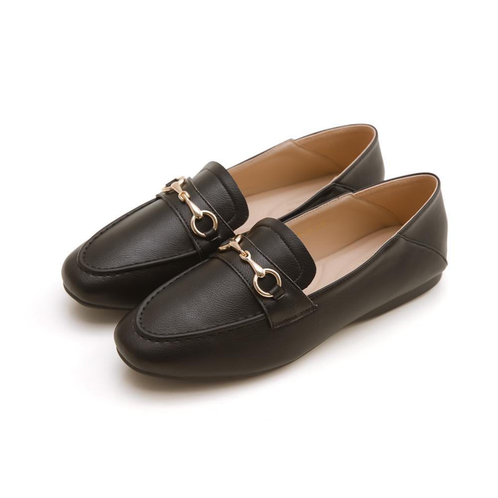 韓-莫卡辛馬銜扣後踩樂福鞋(黑)-大尺碼,,,H-01-A_20008053,韓-莫卡辛馬銜扣後踩樂福鞋(黑)-大尺碼,Korea-MoccasinHorsebitedLoafers(Black)-LargeSize