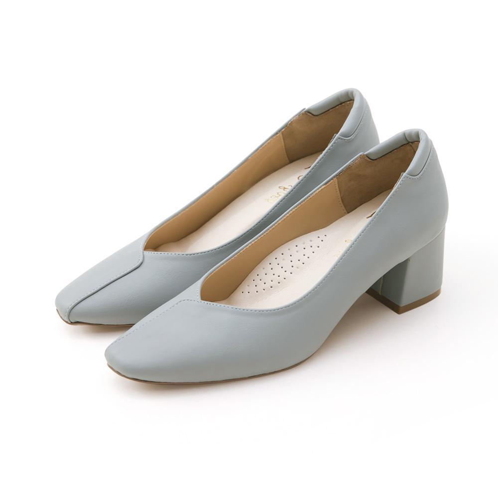 訂製款-荷葉邊小方頭防磨腳高跟鞋(灰藍)-大尺碼,,,1005-C_20008062,訂製款-荷葉邊小方頭防磨腳高跟鞋(灰藍)-大尺碼,Customized-RuffledSmallSquareHeadPillowHighHeels(Blue)-LargeSize