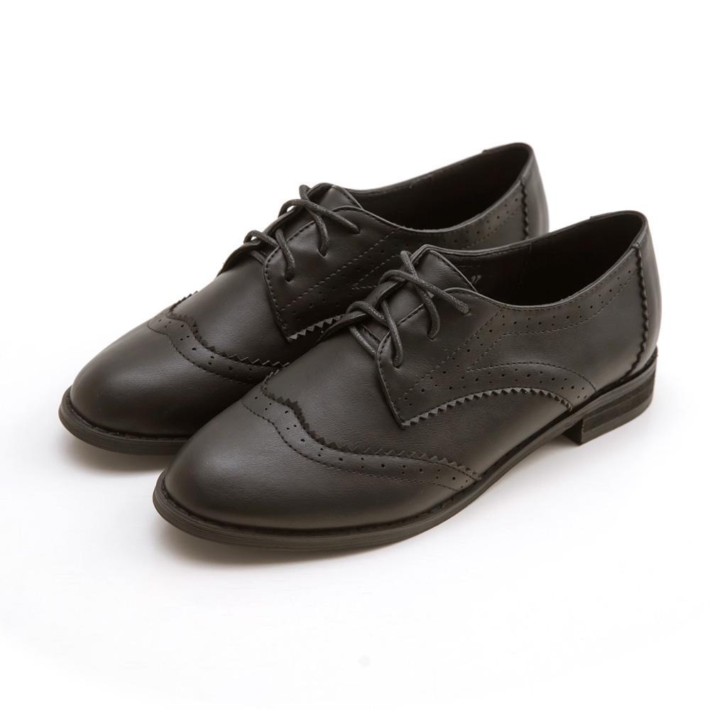 韓-英倫雕花牛津鞋(黑)-大尺碼,,,11208-10-A_20008114,韓-英倫雕花牛津鞋(黑)-大尺碼,Korea-BritishCarvedOxfordShoes(Black)-LargeSize