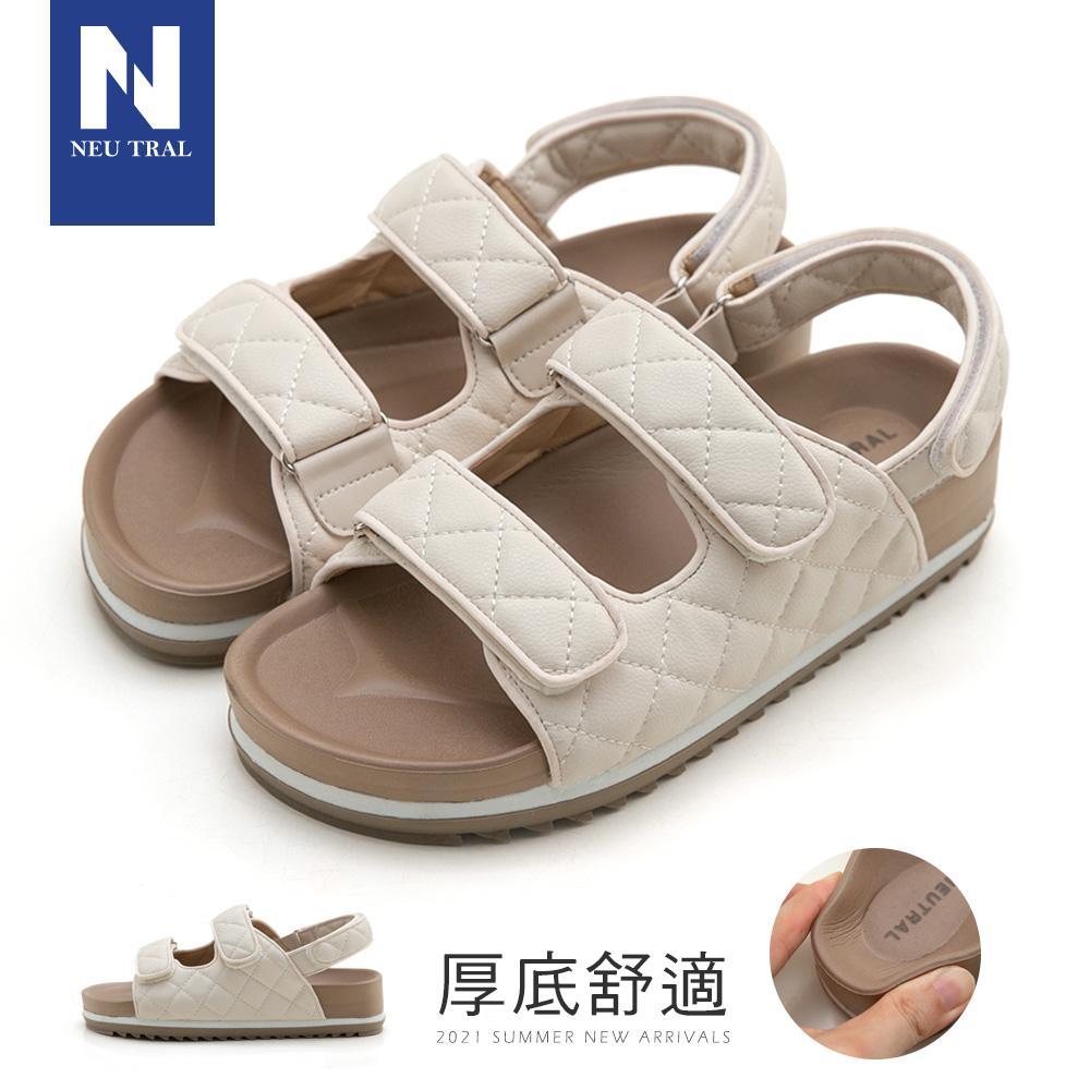 NeuTral 小香風菱格紋涼鞋