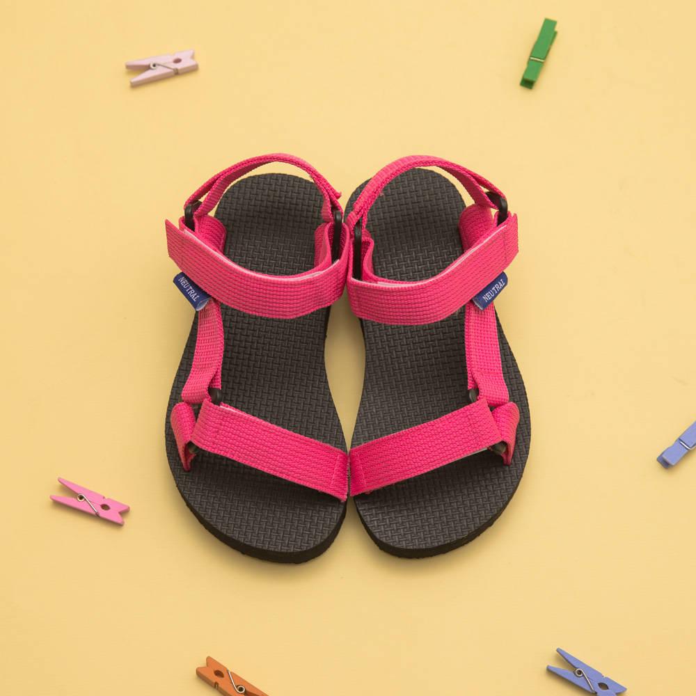 Neu Tral-三角釦織帶厚底涼鞋-KID,親子鞋,小孩鞋,兒童鞋,,