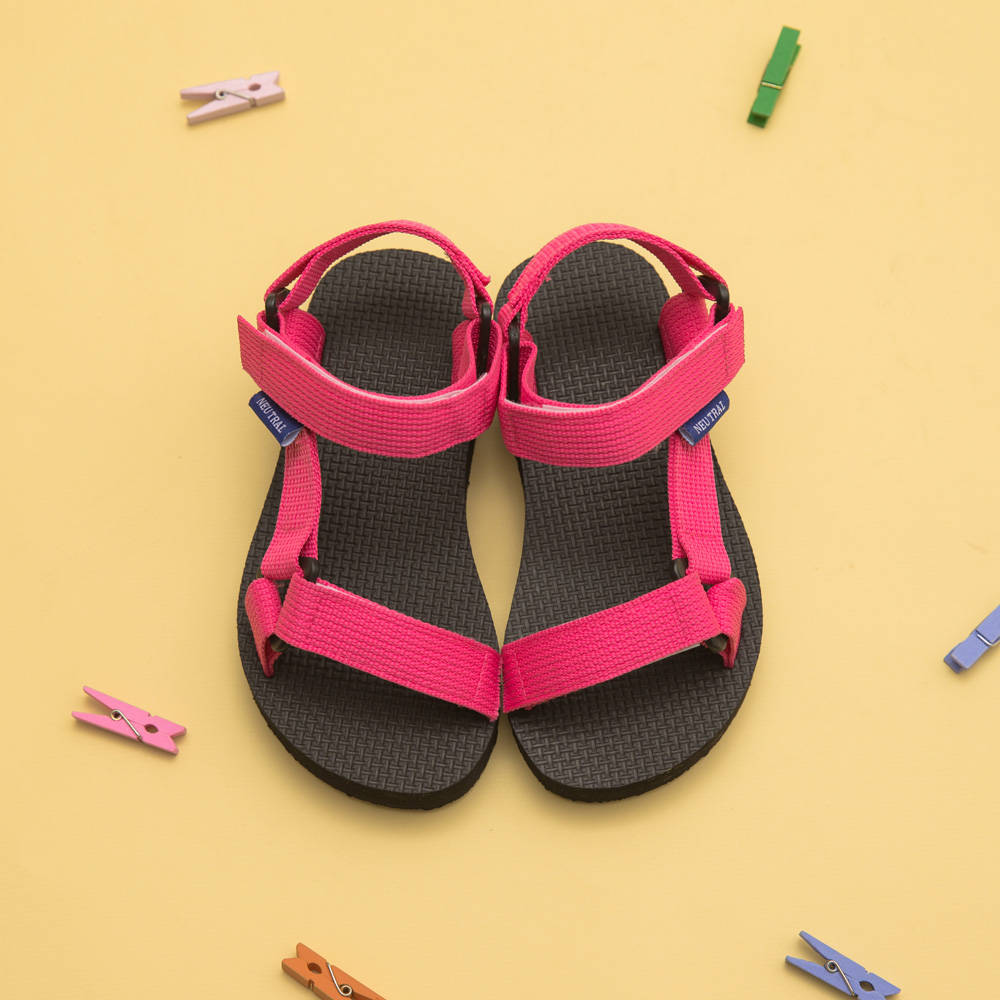 Neu Tral-三角釦織帶厚底涼鞋-KID,親子鞋,小孩鞋,兒童鞋,孩童鞋,MIT